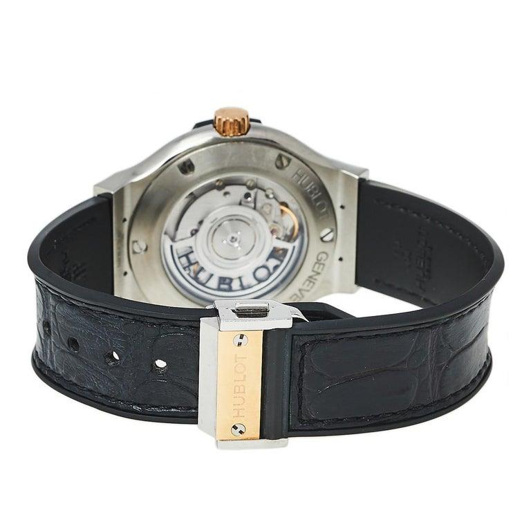 Hublot Black 18K Rose Gold And Titanium Classic Fusion Unisex Wristwatch 38.5 mm 1