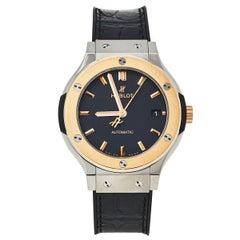 Hublot Black 18K Rose Gold And Titanium Classic Fusion Unisex Wristwatch 38.5 mm