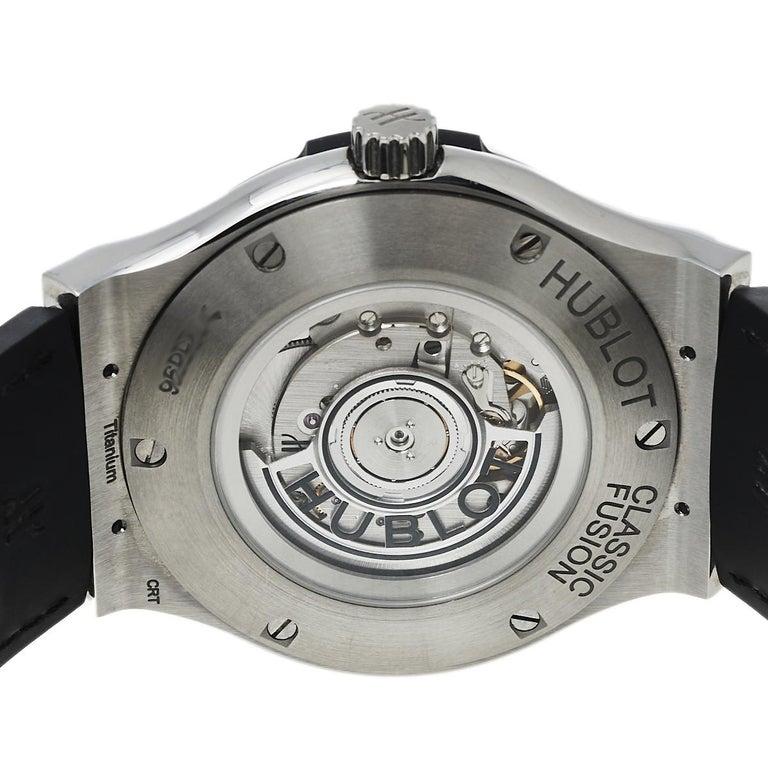Hublot Black Titanium Classic Fusion 511.NX.1170.LR Men's Wristwatch 45 mm In Good Condition In Dubai, Al Qouz 2