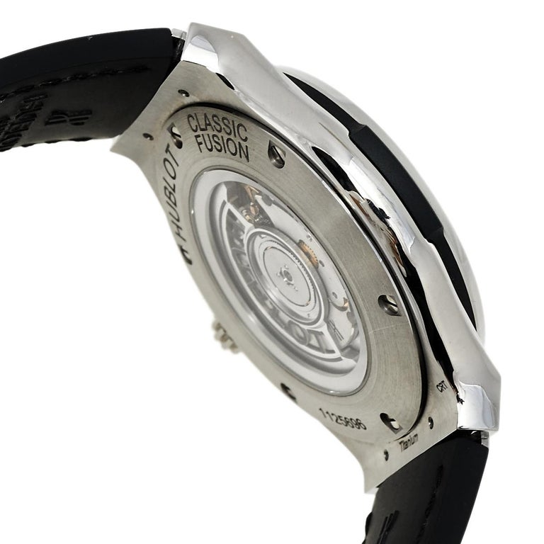 Hublot Black Titanium Classic Fusion 511.NX.1170.LR Men's Wristwatch 45 mm 2