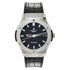 Hublot Black Titanium Classic Fusion 511.NX.1170.LR Men's Wristwatch 45 mm