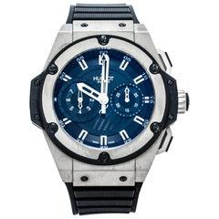 Hublot Black Zirconium Titanium King Power Limited Edition Mens Wristwatch 48 mm