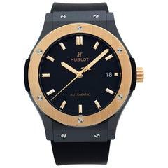 Hublot Classic Fusion 18K Rose Gold Ceramic Black Dial Mens Watch 511.C0.1181.RX