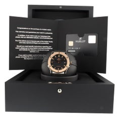 Hublot Classic Fusion 511.NO.1180.RX, Black Dial, Certified and Warranty