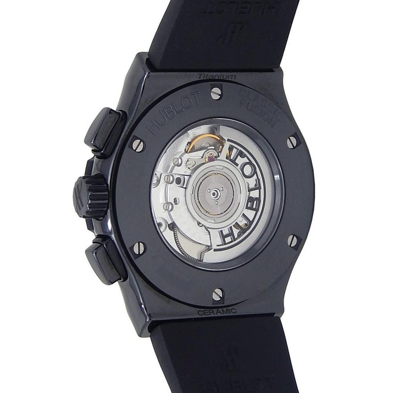 Contemporary Hublot Classic Fusion 525.CM.0170.RX, Case, Certified and Warranty For Sale