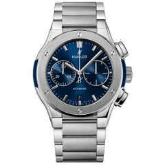 Hublot Classic Fusion Blue Chronograph Titanium Men's Watch 520.NX.7170.NX