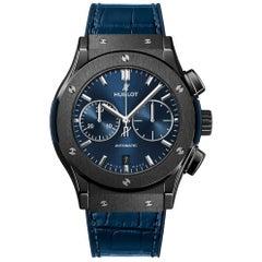 Hublot Classic Fusion Ceramic Blue Chronograph Men's Watch 521.CM.7170.LR