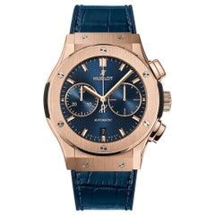 Hublot Classic Fusion Chronograph King Gold Blue Men's Watch 521.OX.7180.LR