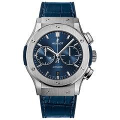 Hublot Classic Fusion Chronograph Titanium Blue Men's Watch 521.NX.7170.LR