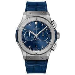Hublot Classic Fusion Chronograph Titanium Blue Men's Watch 541.NX.7170.LR