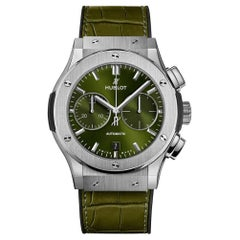 Hublot Classic Fusion Chronograph Titanium Green Men's Watch 521.NX.8970.LR