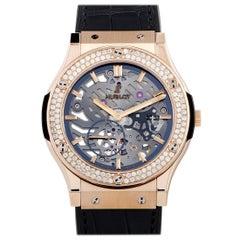 Hublot Classic Fusion Classico Ultra-Thin King Gold Diamonds Watch 515.OX.