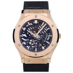 Hublot Classic Fusion Extra-Thin Skeleton King Gold Watch 515.OX.0180.LR