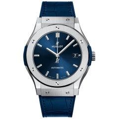 Hublot Classic Fusion Titanium Blue Men's Watch 511.NX.7170.LR