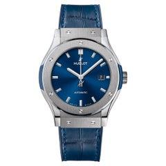 Hublot Classic Fusion Titanium Blue Men's Watch 542.NX.7170.LR