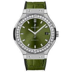 Hublot Classic Fusion Titanium Diamond Green Watch 565.NX.8970.LR.1204