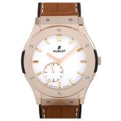 Hublot Classic Fusion Ultra-Thin King Gold White Shiny Dial Watch 515.OX.2