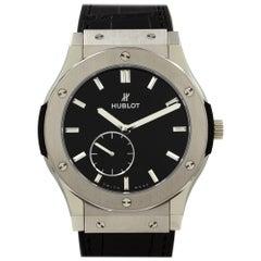 Hublot Classic Fusion Ultra Thin Titanium Black Dial Watch 515.NX.1270.LR