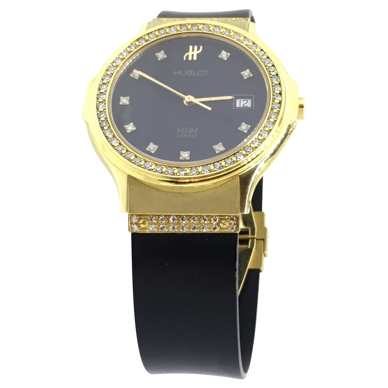 Hublot Classic MDM, 18 Carat Yellow Gold, Diamond, Quartz 1520.3.054
