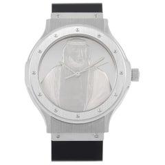 Hublot Engraved Sheikh Khalifa Dial Watch 1582.4