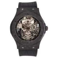 Hublot Limited Edition Ceramic Black Skull Classic Fusion Tourbillon Watch BNP
