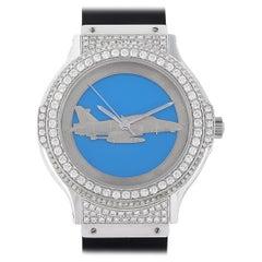 Hublot MDM White Gold F-16 Fighting Falcon Watch 1582.4