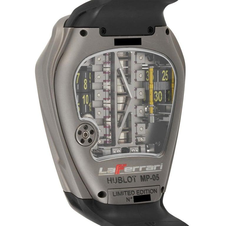 Hublot MP-05 LaFerrari Titanium Watch 905.NX.0001.RX In Excellent Condition For Sale In Southampton, PA