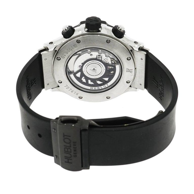 Modern Hublot Stainless Steel Super B Black Magic self-winding Wristwatch For Sale