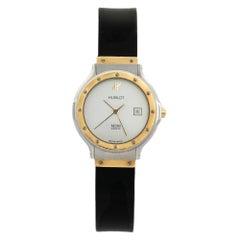 Hublot White 18K Yellow Gold MDM 1391.2 Women's Wristwatch 28 mm