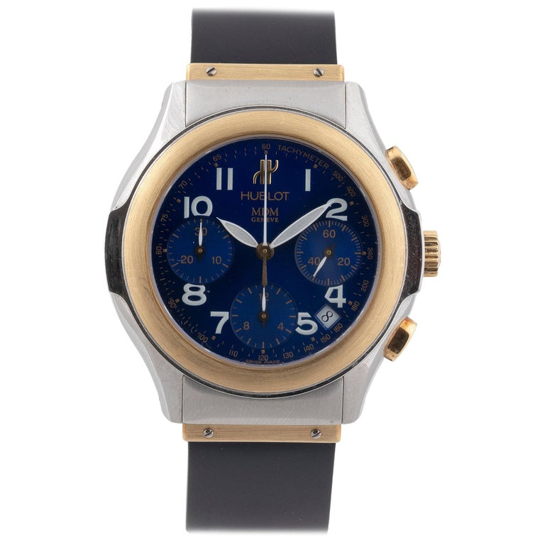 Hublot Yellow Gold Stainless Steel Chronograph Automatic Wristwatch