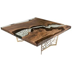 Hudson 150 Square Epoxy Resin Dining Table