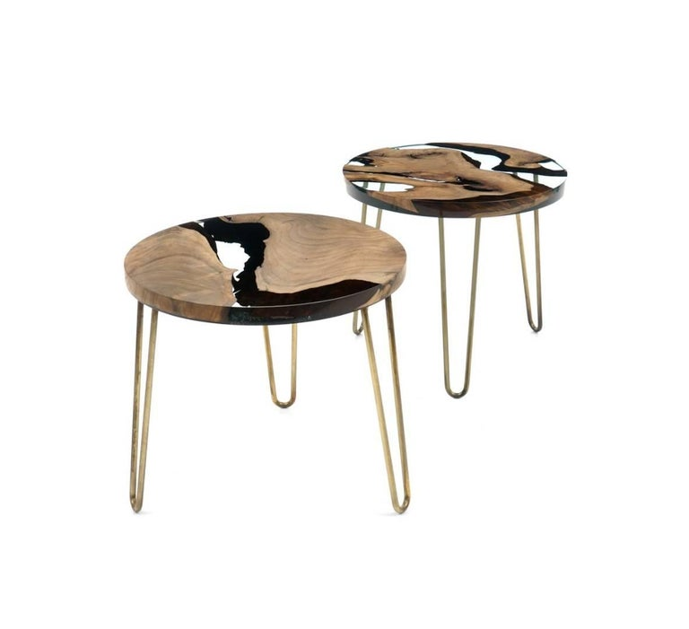 Hudson Coffee Table: Hudson 60 Epoxy Coffee Table For Sale At 1stdibs