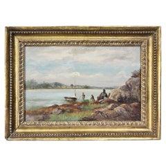Hudson River School Oil on Panel Painting