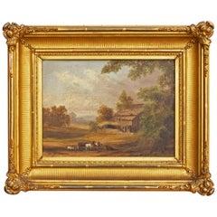 Hudson River School Painting in Original Gilt Frame