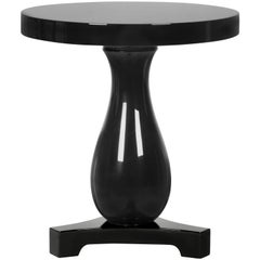 Hudson Side Table in Black Lacquered