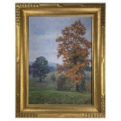 Hudson Valley New York Oil Painting, Newcomb Macklin Frame, Signed Fassett