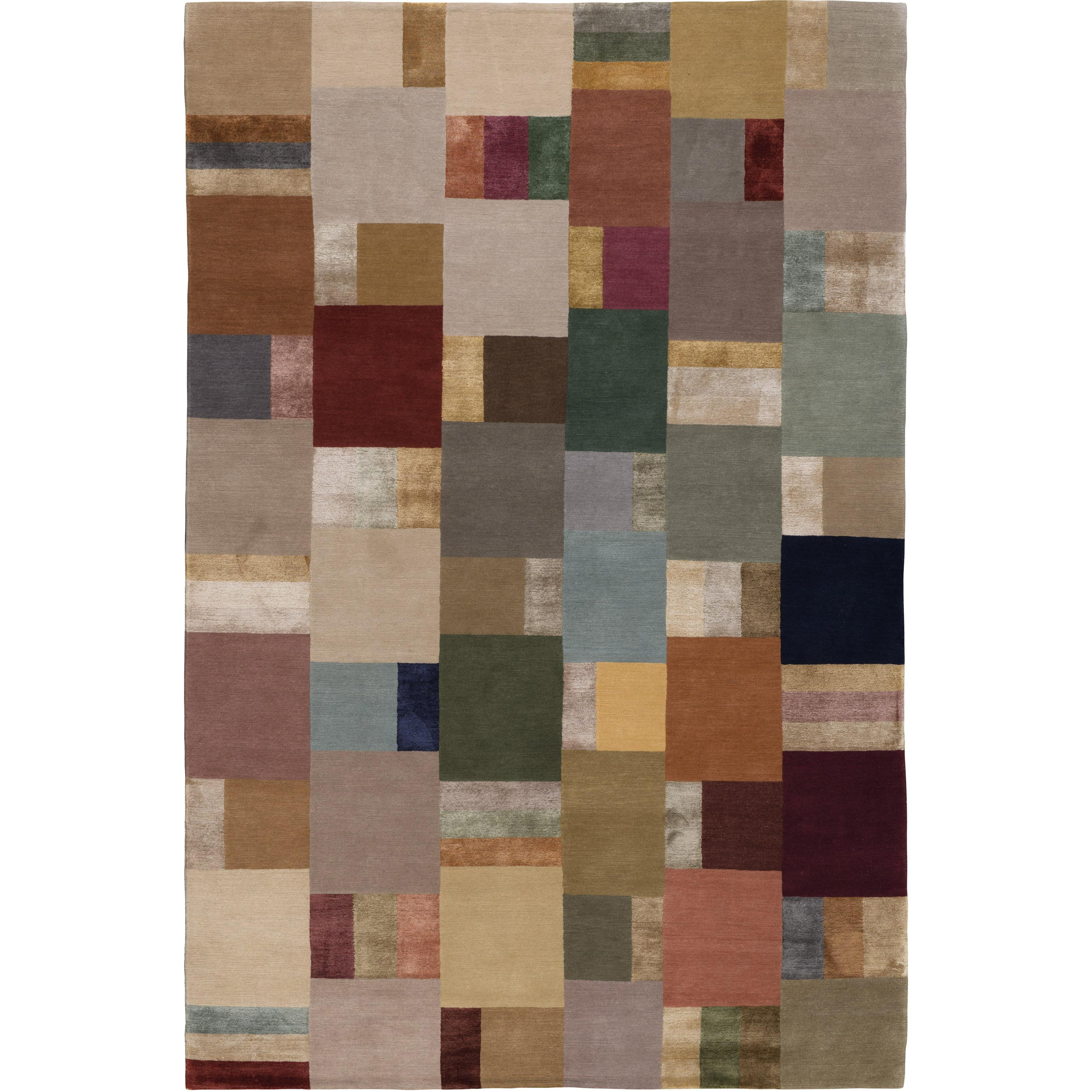 Hue Hand-Knotted 10x8 Rug in Wool and Silk by Christopher Sharp