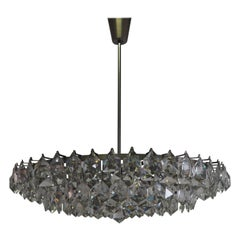 Huge 15-Light Crystal Chandelier by Bakalowits & Sons, Vienna, circa 1960s