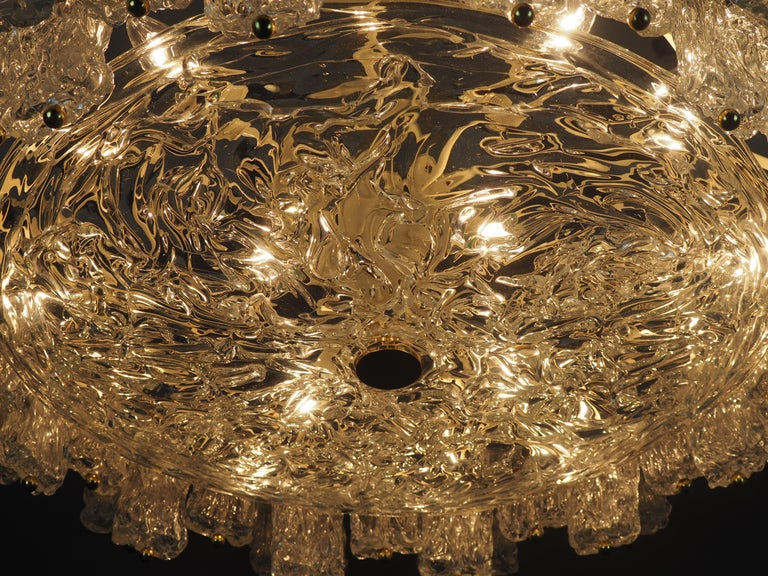 Metal Huge 16-Light Chandelier by Aureliano Toso, Italy, circa 1960s For Sale
