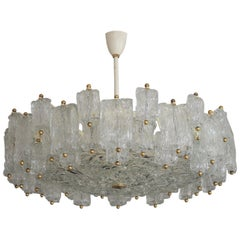 Huge 16-Light Chandelier by Aureliano Toso, Italy, circa 1960s