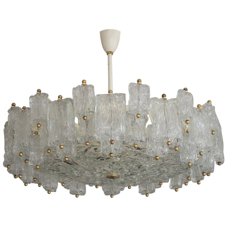 Huge 16-Light Chandelier by Aureliano Toso, Italy, circa 1960s For Sale