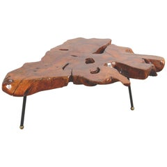Huge 1960s Mexican Natural Sabino Burlwood Coffee Table