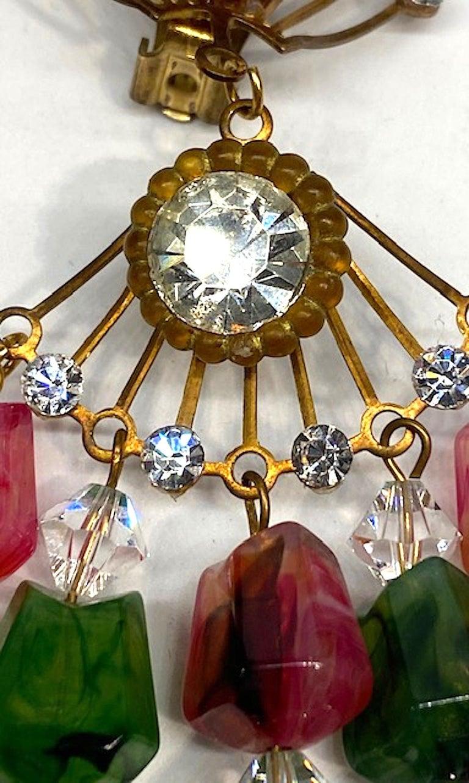Huge 1970s Chandelier Earrings For Sale 6