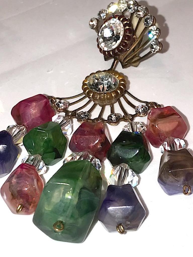 Huge 1970s Chandelier Earrings For Sale 7