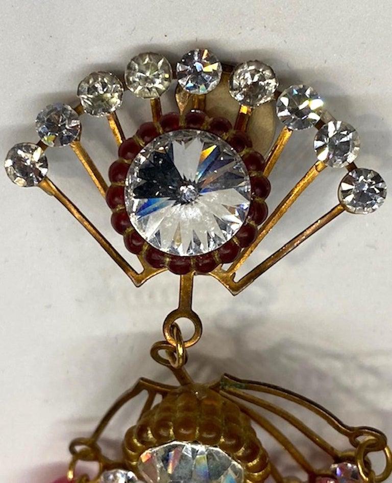 Huge 1970s Chandelier Earrings For Sale 4