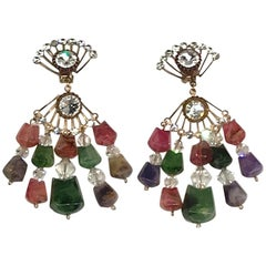 Huge 1970s Chandelier Earrings