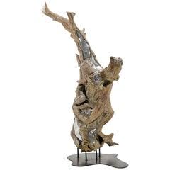 Huge 1970s Driftwood Tree Sculpture