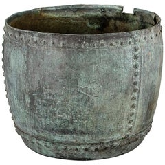 Huge 19th Century English Rivetted Copper Planter