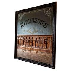 Huge 19th Century 'Aitchisons' Pale Ale Edinburgh Brewery Advertising Mirror