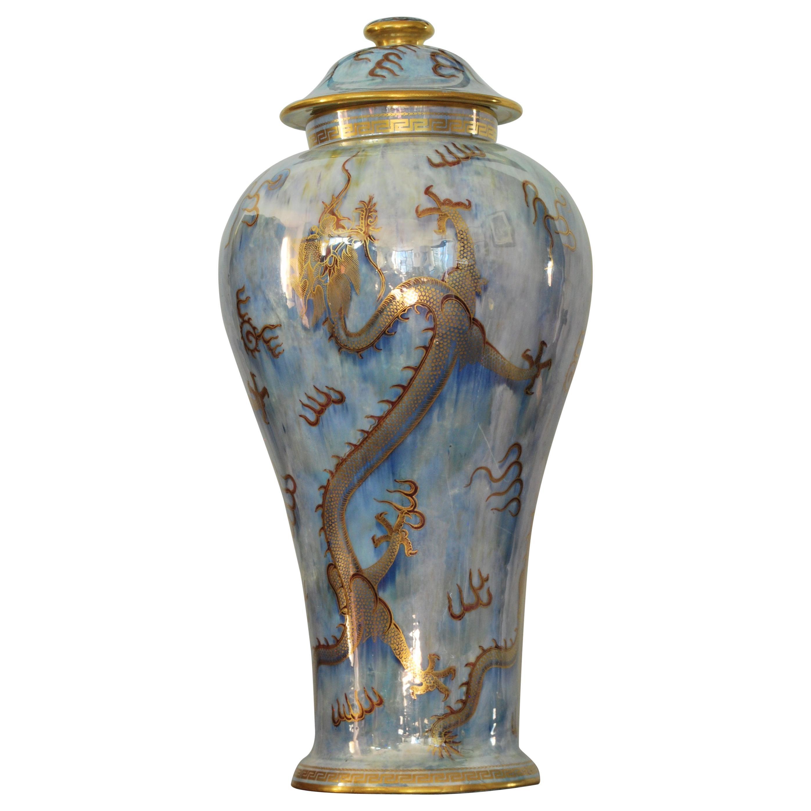 Huge Dragon Lustre Vase, Wedgwood, circa 1925
